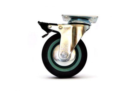 1 – Castor Wheel Brake Plate MBT 100mm – Grey 50kg – pic1