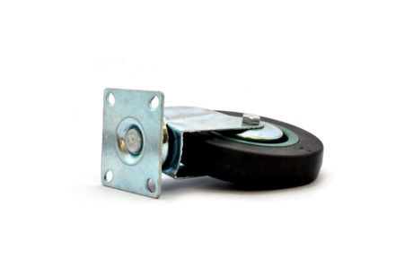 1 – MBT Castor 125mm Swivel Plate – Grey 70kg – pic2