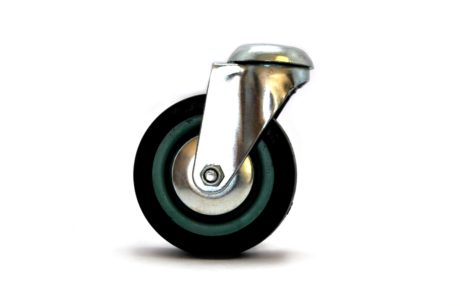 1 – MBT Castor Wheel 100mm Swivel Bolt – Grey 50kg – pic1
