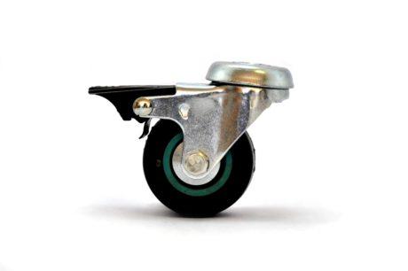 1 – Castor 50mm Soft Wheel Bolt Brake – Grey 35kg – pic1