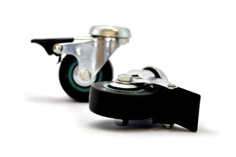1 – Castor 50mm Soft Wheel Bolt Brake – Grey 35kg – pic2