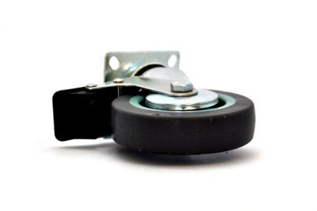 1 – Castor Wheel Brake Plate MBT 100mm – Grey 50kg – pic2