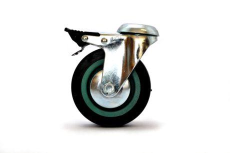 1 – MBT Castor Wheel 100mm Bolt Brake – Grey 50kg – pic2