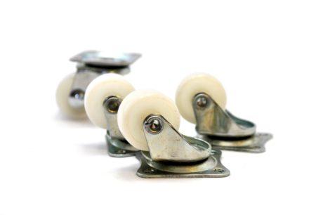 4 – Castor 25mm Nylon Wheel Swivel Plate – 10kg – pic2